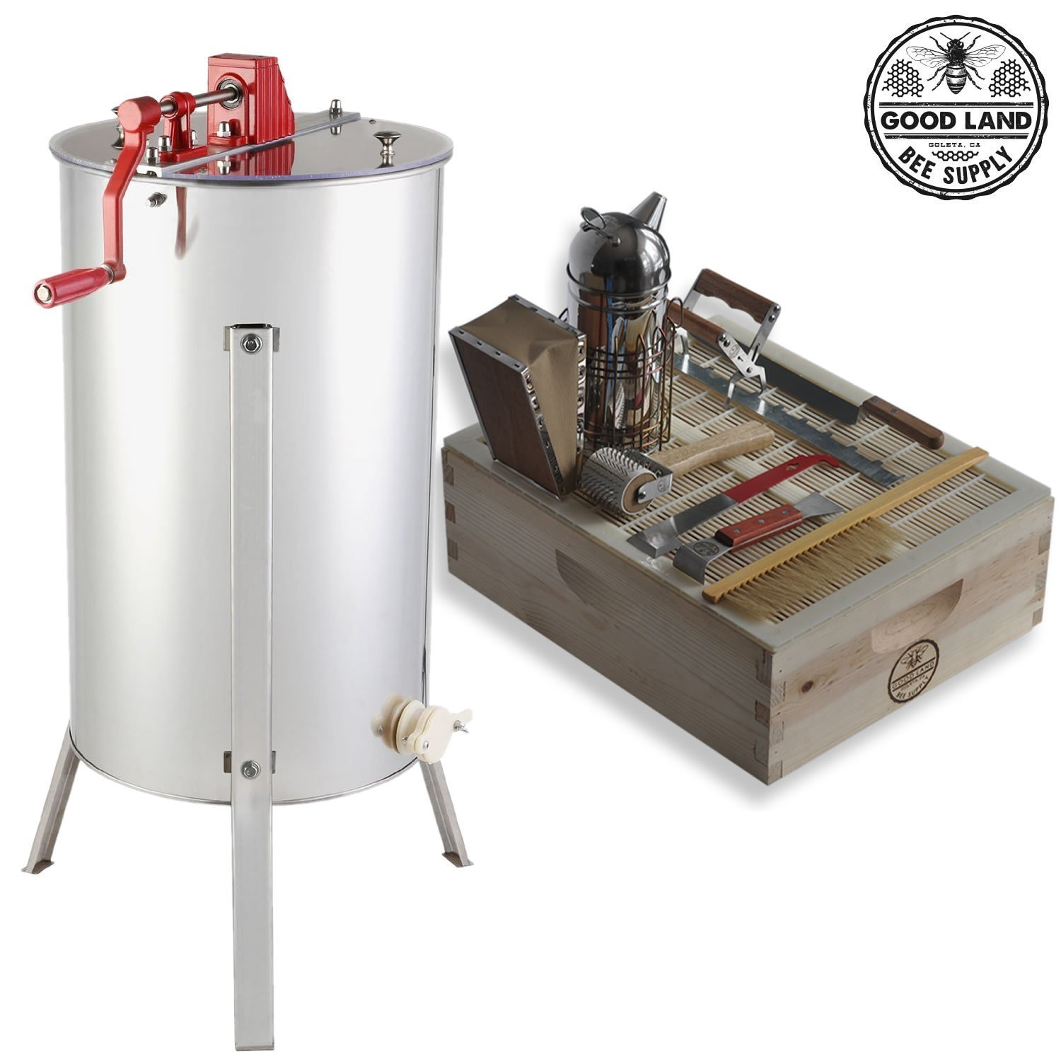 8. Goodland Bee Supply 2 Frame Honey Extractor