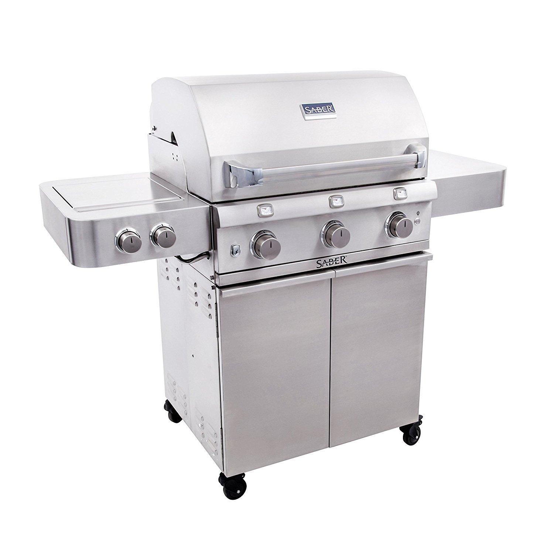 SABER SS 500 Premium Stainless Steel 3 Burner Gas Grill